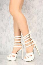 4bb80e65b714 Caged ankle Mid Calf Stiletto High Heels Platform Pumps Booties Dancer  shoes H18