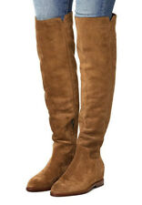 NEW ASH Jess Tall Suede Over-The-Knee Hidden Wedge Boot EUR 37/US 7 Russet Brown