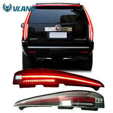 LED Tail Lights For 2007-2014 Cadillac Escalade Clear Lens Red Turn Signal Lamp