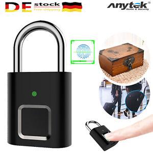USB Fingerabdruck Türschloss Smart Keyless Lock Vorhängeschloss Fingerprint Lock