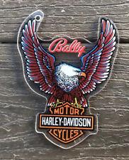Genuine HARLEY DAVIDSON Motor Cycles Pinball Promo Plastic Keychain Bally NOS