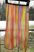 RARE Vintage Vanity Fair half slip Rainbow Psychedelic --Small X small -- EXC