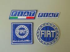 PATCH FIAT TRICOLORE BARCHETTA E LOGO PZ 4  RICAMATE TERMO-REPLICA -COD.914