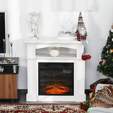 """32"""" 1500W Freestanding Full Frame Electric Fireplace Stove Heater w/ Flame Log"""