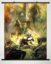 Japanese Anime  Wall Scroll Poster Game Silk Legend of Zelda Home Decor 30x45cm