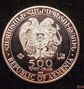2015 Republic Of Armenia 1oz Silver Coin Noah's Ark