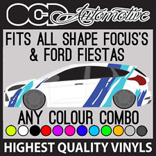 FORD FIESTA / FOCUS TIGER STRIPE MOTORSPORT GRAPHICS STICKER DECALS KIT RS ST