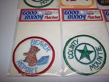 """""""Good Buddy"""" Patches CB Radio lot of 8 Vintage Iron/Sew On. New in packages"""