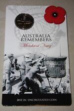 (PL) 2012 Australia Remembers - Merchant Navy 20C Unc Coin ROYAL AUSTRALIAN MINT