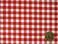 RED GINGHAM CHECK RETRO KITCHEN PATIO DINING OILCLOTH VINYL TABLECLOTH 48x48 NEW