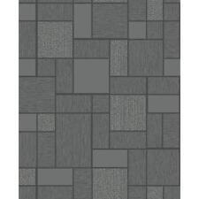 Glitter Tile Wallpaper 89240 Black
