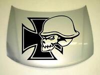 Aufkleber Sticker Motorhaube Iron Skull Kult Fun Oldschool 58X75cm