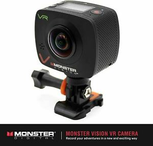 New MONSTER VISION Virtual Reality ACTION SPORTS CAMERA Wireless Upload VR NIB