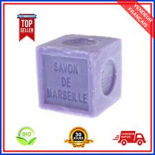 Savon De Marseille Lavande En Cube à l'Huile d'Olive Pure Bio 100% Naturel 300 g