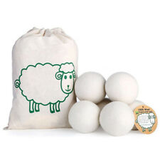 6X Wool Dryer Balls New Zealand Wool Natural Laundry Clean Fabric Softener Home