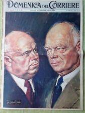 La Domenica del Corriere 13 Settembre 1959 Toscanini India Kruscev Eisenhower