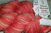 2 SKEINS/HANKS OF (DISC) UNIVERSAL DELUXE WORSTED TONES YARN ~ #341 MULTI COLOR