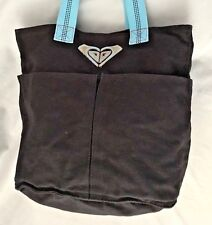 "Black Blue 6X12X15"" Roxy Messenger Purse Bag w 22 Handle & 3 Pockets"