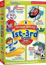 Adventure Workshop 1st-3rd Grade PC Game Window 10 8 7 XP Computer kid learn NEW