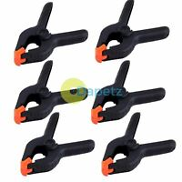 """6"""" Plastic Market Stall Spring Clamps Strong Clips For Tarpaulin Nylon Grip UK"""