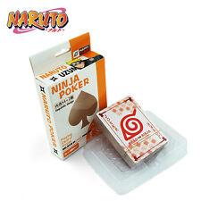 Japan Anime NARUTO Ninja Playing Cards Poker 56 pcs With Box Cartoon Gift New