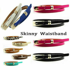 Leather Women's Waist Belt Skinny Belts