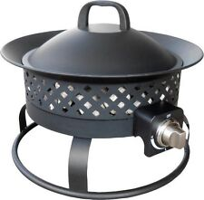 NEW Bond Aurora Steel Portable Gas Fire Bowl! Propane Metal Camping Pit Ring
