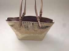 New with Tags Gold Metallic MK Logo Large Jet Set Purse Tote