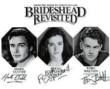 MULTI HANDSIGNED 10 x 8  B&W PHOTOGRAPH BRIDESHEAD REVISITED THEATRE PRODUCTION