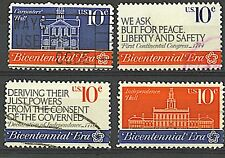 Scott #1543-46 Used Set, First Continental Congress