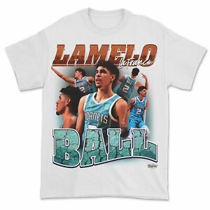 Lamelo Ball Graphic T-Shirt Funny White Cotton Tee Vintage Gift For Men Women