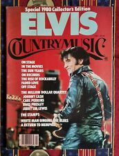 Vintage Elvis Presley Magazine 1980 country music collectors edition w/ poster