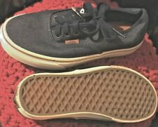 VANS OFF THE WALL DENIM JEANS TRAINERS LOW TOP SHOES SIZE UK SIZE 3 NAVY BLUE