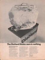 1968 Sears PRINT AD Die Hard Auto Battery