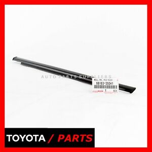 GENUINE TOYOTA BELT MOUDLING WEATHERSTRIP REAR OUTER RIGHT OEM 68163-35041