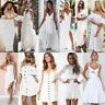 Womens Long Maxi Dress Prom Evening Party Summer Beach Holiday Dresses White Lot