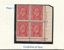 CANADA # 192i VF-MNH 2MLH PLATE BLOCK # 1 WITH GUIDELINE CAT VAL $150 FREE SHIP
