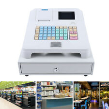 Electronic Cash Register Led Display Pos System 48 Keys With Drawer Box Retail