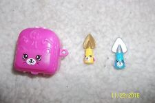 NEW Shopkins Season 4 Lot Of 2 Special Edition Petkin Jade Spade Set w/pink case