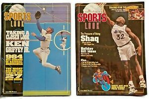 Lot of 2 Ken Griffey Jr. Shaq Michael Jordan 1994 Collectors Sports Look Mag.