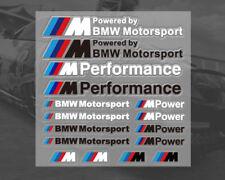 Vinyl decals for BMW Motorsport M Sport M Power (1 sheet 16 stickers) (UK stock)