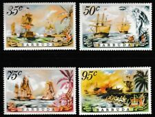 Tall Ships MNH Jeu de 4 Timbres 1975 Barbuda #209-12 Battle Of The Saints