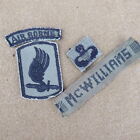 100% Orig Vietnam Theater made 173rd patch/Tab with wings and nam made name tag