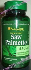 Saw Palmetto 450mg 100 CAPSULES Supports Prostate/Urinary Health Puritan's Pride