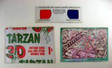 TARZAN 1953 Topps Gum Wrapper, 3D Viewer and Card #153