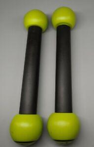 Zumba Fitness Toning Sticks Set, 1lb Weight Each, Maraca Sound + DVD