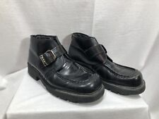 Dr Martens Mid Boots Made in England Square Toe Buckle Over Strap Men Sz 8 8750