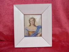 Belle, vieille miniature __ portrait d'une dame __ KL. peintures __ signé __ 16cm x 14cm!