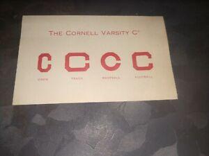 1911 Cornell University 4 varsity C letterman crew track baseball football