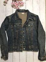 Levi Strauss & Co Womens Size XS Button Down Denim Blue Jean Jacket